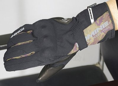 瀧澤部品 日本 KOMINE GK-811 黑綠迷彩 秋冬 長手套 防摔防風防水 可觸控 內護具 GK811 通勤機車