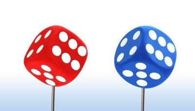 (I LOVE樂多)辛運骰子天線球 紅色/藍色兩款供你選擇購買
