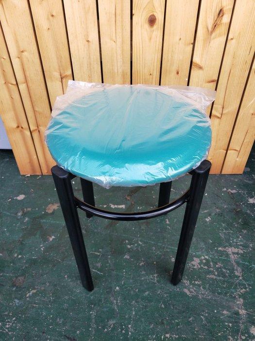 非凡二手家具 全新圓管皮墊圓椅(綠)*矮凳*輔助椅*餐椅*麻將椅*塑膠椅*餐廳椅B333-13