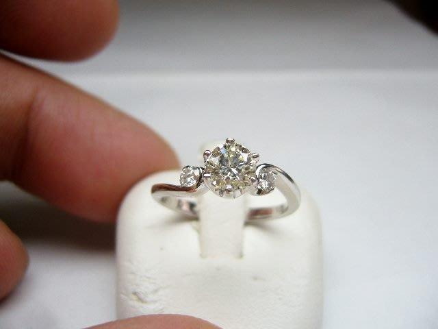 [吉宏精品交流中心]51分 南非天然鑽石 白K金 造型 戒指