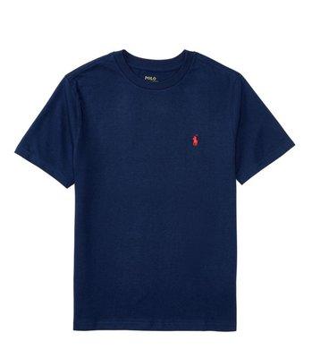 Ralph Lauren Polo 刺繡小馬 圓領短袖 素T 藍色紅馬 大童/青年版 100%正品