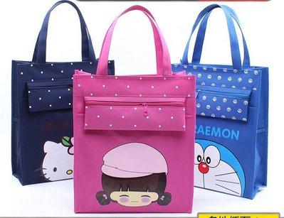 防水帆布補課包美術包袋子小拎包 化妝包 收納包 收納袋 補習包手提袋 補習袋小學生書袋