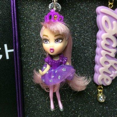 【加購區】【獨家原創】惡搞設計師有點懶。走在時尚最尖端。紫髮芭比公主小蓬裙。俏皮小花與水鑽+復古立體玩具公仔誇張大耳環