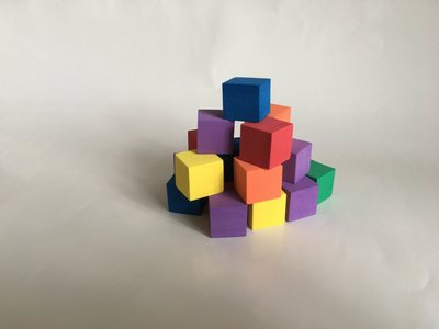 """【""""USA""""- Assorted Color Block 2公分彩色方塊】"""