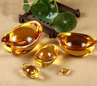 【準提無意間】買10贈1 * 黃水晶元寶 3公分 琉璃 養晶 開運招財進寶擺飾