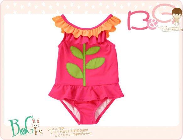 【B& G童裝】正品美國進口Crazy8 Flower Ruffle Swim Suit 花朵造型連身泳裝2yrs