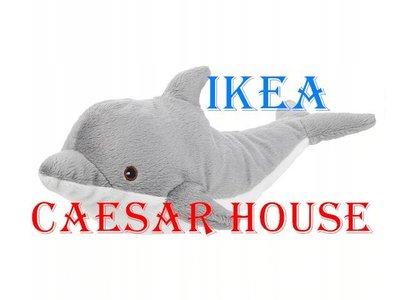 ╭☆凱薩小舖☆╮【IKEA】 GENOMBLÖT 填充玩具, 海豚, 70 公分-免運費