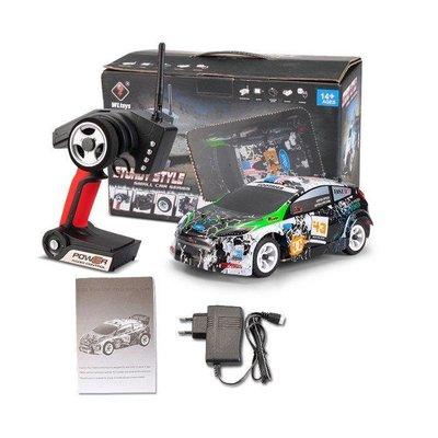 大千遙控模型 (到貨)偉力K989 4WD 1/28 小四驅高速遙控拉力房車(金屬底板 /2樓板 ) 全套RTR