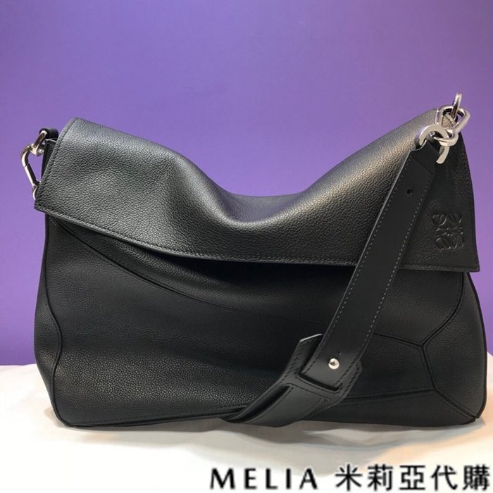 Melia 米莉亞代購 美國精品代購 LOEWE 羅意威 男式款 Messenger bag系列 郵差包 黑色
