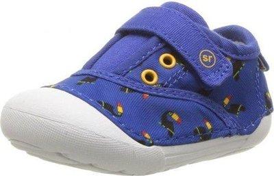現貨 美國帶回 Stride Rite 可愛藍色大嘴鳥 寶寶 童鞋 包鞋 布鞋 外出鞋 學步鞋