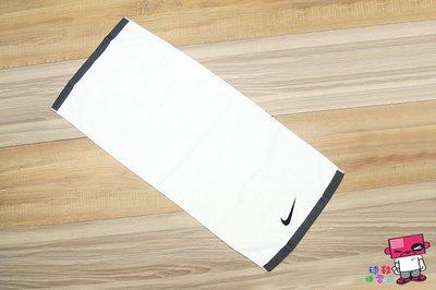 球鞋補習班 NIKE SPORT FUNDAMENTAL 運動毛巾 棉質 吸汗 健身 LOGO 白 AC2088-101