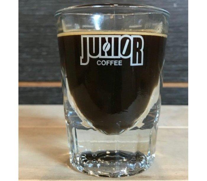 天使熊雜貨小舖~JUNIOR喬尼亞義式濃縮玻璃盎司杯  容量:40ml(1.5oz)  美國製 全新現貨