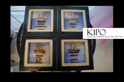 KIPO-四聯-立體畫-立體裝飾-復古...