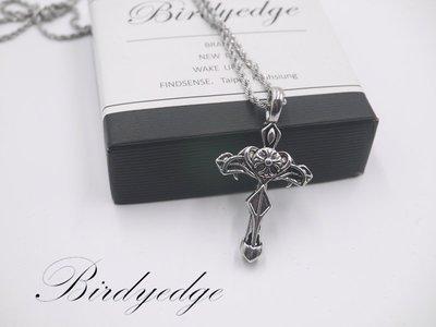 BIRDYEDGE品牌設計 耶穌 聖母 十字 玫瑰 鋼鍊 項鍊  免運費 聖母十字劍 勝花2
