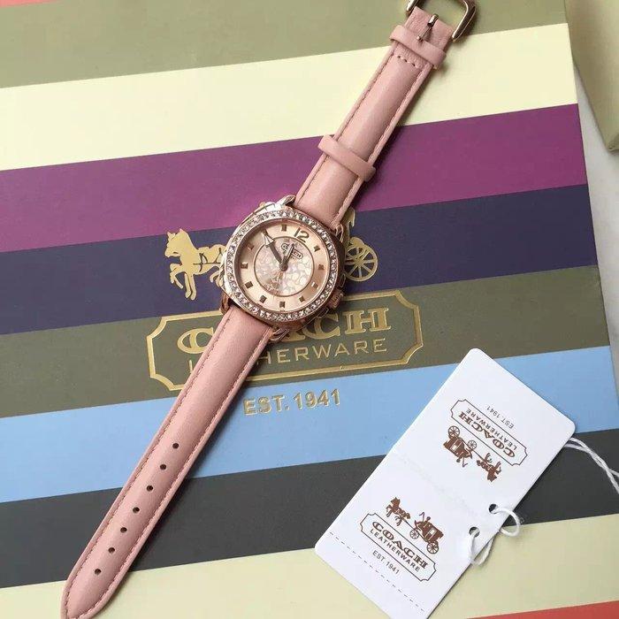 NaNa代購 COACH 手錶 粉色 超漂亮 粉色少女 時尚大方 佩戴舒服  附代購憑證