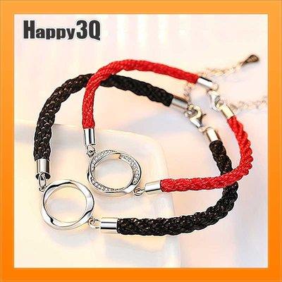 S925純銀手鍊情侶手鍊單條紅繩手繩訂...