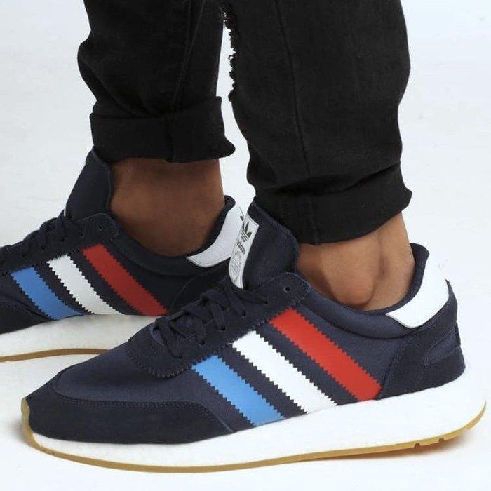 Washoes adidas I-5923 INIKI Run 藍 白 紅 BD7814 BMW 膠底 慢跑鞋 男鞋05