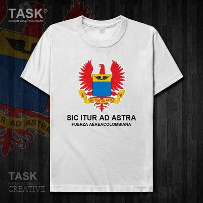 TASK 哥倫比亞Colombia空軍純棉短袖T恤男女軍迷半袖學生打底衫夏
