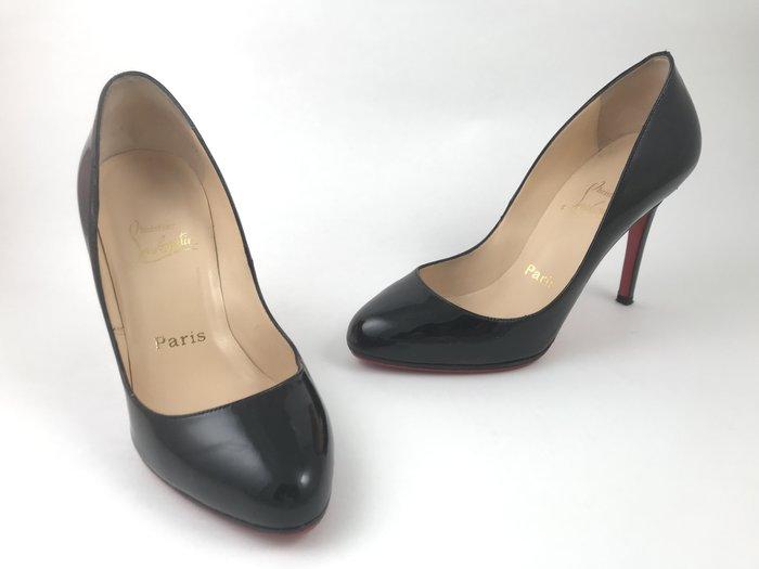 [我是寶琪]  Christian Louboutin 黑色漆皮高跟鞋