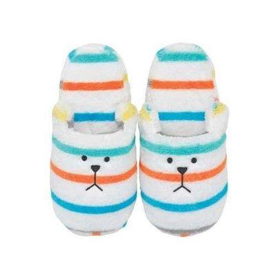 尼德斯Nydus~* 日本正版CRAFTHOLIC 宇宙人 保暖小物 拖鞋 室內拖 春季新款 SLOTH熊 彩色條紋