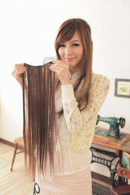 紗婷‧Satine【P16】3扣增加髮量假髮直髮長髮片60cm 耐熱纖維高溫絲(可用電棒燙造型)