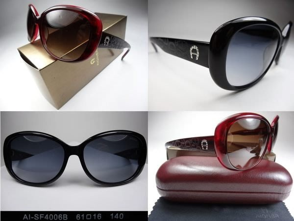 信義計劃 眼鏡 Aigner 馬蹄 太陽眼鏡 公司貨 水鑽膠框圓框 搭配絲巾鞋子外套包包 sunglasses