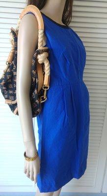 Kate Spate 海軍藍純棉收腰小洋裝