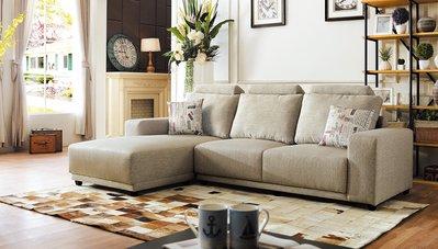 【毓璽傢具:全新家具】沙發 L型沙發 KTV沙發椅 日式L型沙發 (淺灰/銀灰) (左/右)