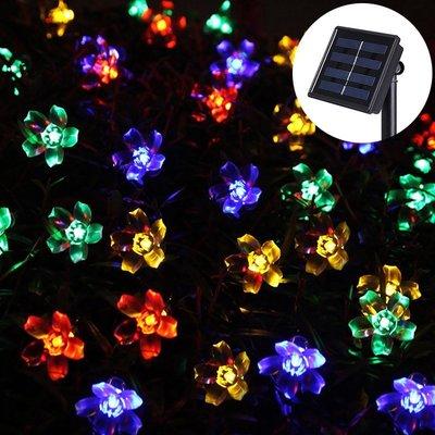 LED太陽能櫻花燈串10公尺100燈 ...