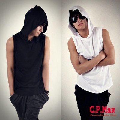 CPMAX 歐美嘻哈連帽無袖背心 無袖背心 連帽背心 歐美背心 寬鬆背心 潮流背心 寬版背心 無袖T桖背心【VE02】