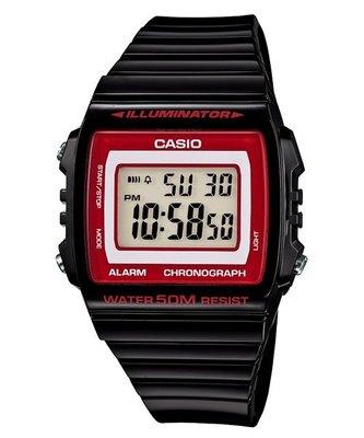 CASIO 卡西歐 方形數字錶大型的液晶錶面防水50米LED背光照明W-215H -1A 2( 215 H 1 )學生錶 基隆市