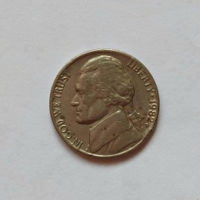 America美國硬幣1982年Five Cents-No.7