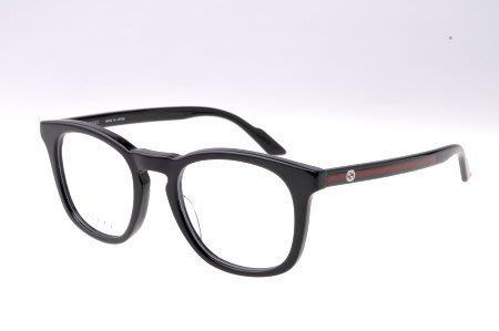 ☆鏡典眼鏡☆正品 GUCCI 眼鏡~經典綠紅綠線條設計~亞洲版鼻墊加高~日本原廠製~173黑
