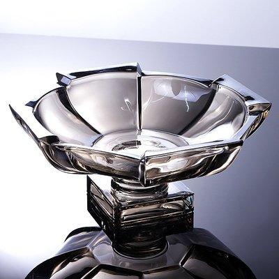 hello小店#創意現代茶幾北歐式帶腳水晶玻璃水果盤客廳家用糖果盤果盤#糖果罐#果盤#收納罐