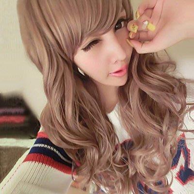 英式名媛甜蜜感中長捲髮~高仿真整頂假髮【MA135】☆雙兒網☆