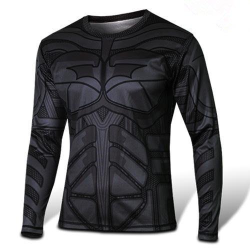 任二件免運  蝙蝠俠 經典 男女 長袖T桖 排汗衫 寬鬆 S~4XL 大尺寸 L7