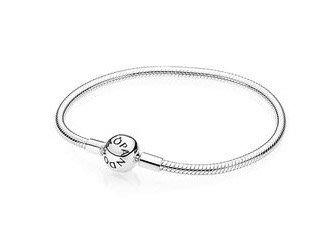 美國代購)PANDORA Clasp 潘朵拉 純銀圓球型扣手鍊 17-23cm (女 禮物