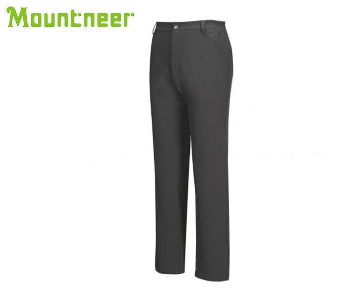 丹大戶外【Mountneer】山林休閒 男SOFT SHELL保暖長褲 12S33-12 深鐵灰