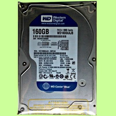 5Cgo【權宇】WD西部數據 1600JS 3.5吋 160GB/160G 8M IDE/PATA 硬碟 含稅會員扣5%