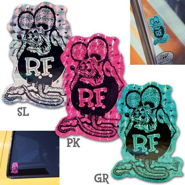 (I LOVE樂多)正版RAT FINK菱鏡反光防水貼紙 3種款式供你選擇 不同角度觀看會有不同折射光采