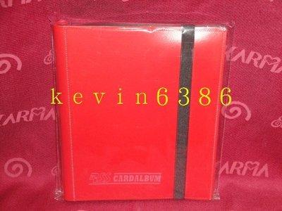東京都-PP8格側插四格收集冊.卡冊(紅色)(內附20張內頁.可放160張卡) 現貨