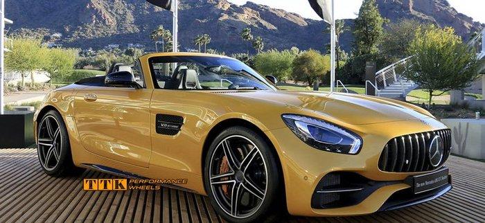 【小茵輪胎舘】2018 類Mercedes-AMG GT S Sports 式樣 18吋 5孔112 8J+9J 黑車面