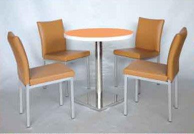 【南洋風休閒傢俱】75cm洽談桌 +伯爵 洽談椅 餐椅 休閒椅 (576-1)