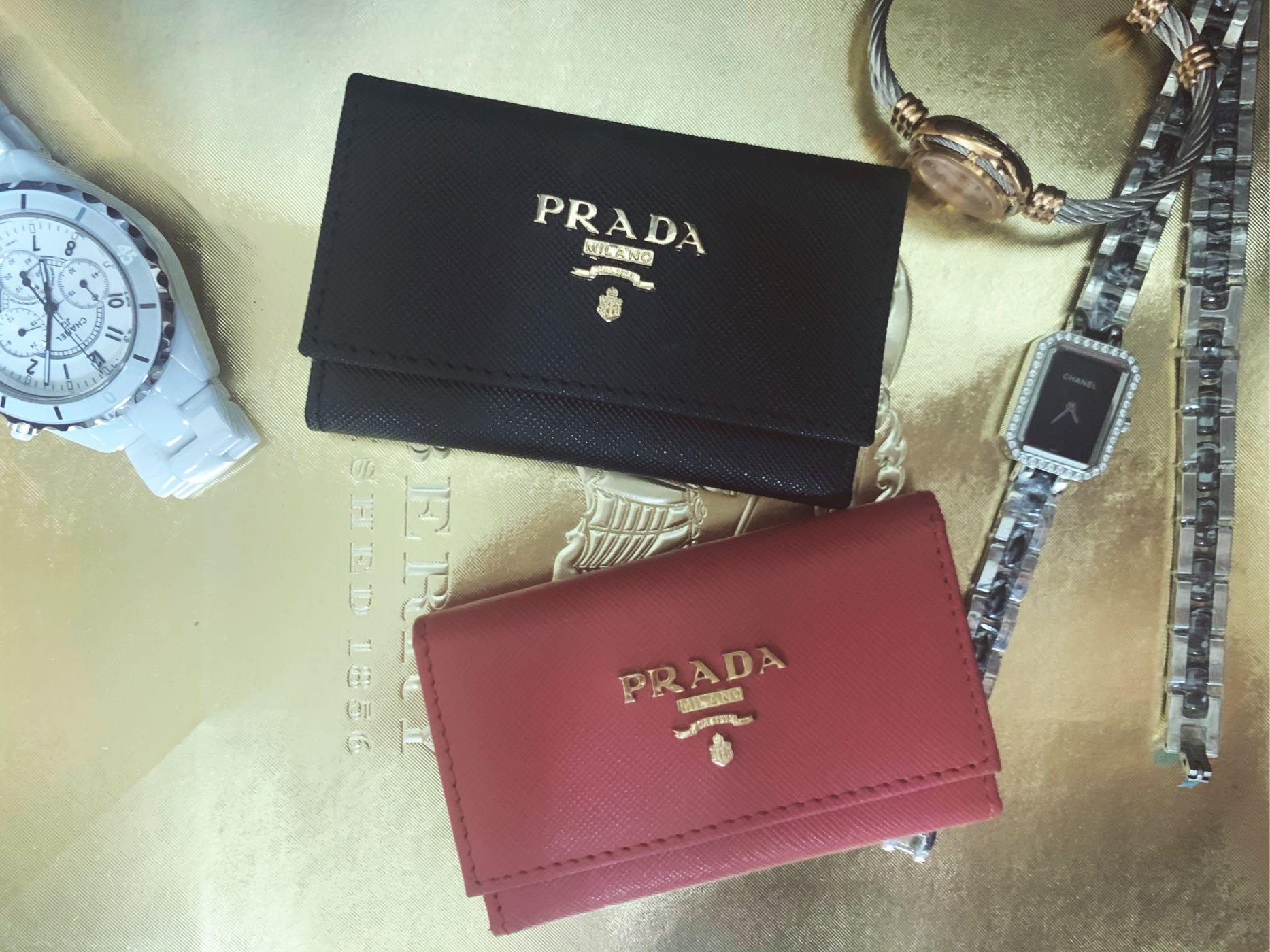 七夕情人節 Prada 鑰匙包 中性款 超適合送人的 經典防刮紋又耐用 耐看經典的款式 送禮自用兩相宜♥️👍