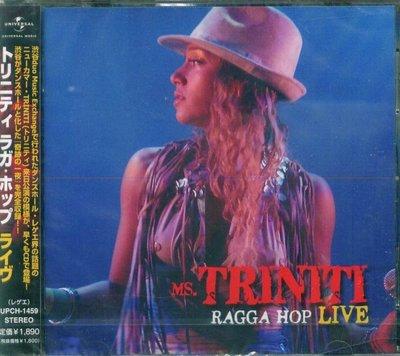 K - Ms. Triniti - Ragga Hop Live - 日版 Japan Only - NEW