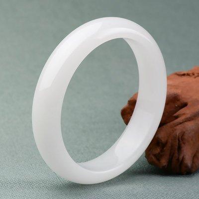 【良緣閣】天然阿富汗白玉手鐲正品羊脂級白玉鐲子