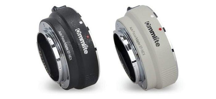 【新鎂】Commlite CM-EF-NEX 佳能EF/EF-S鏡頭 轉 NEX機身 轉接環 黑/白