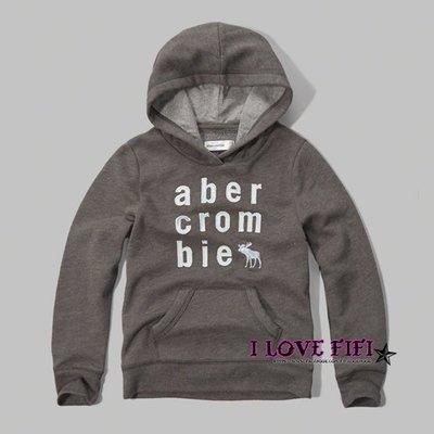 ❤美國專櫃帶回真品❤a&f童裝abercrombie&fitch kids girl hoodie麋鹿連帽Tee-深灰色