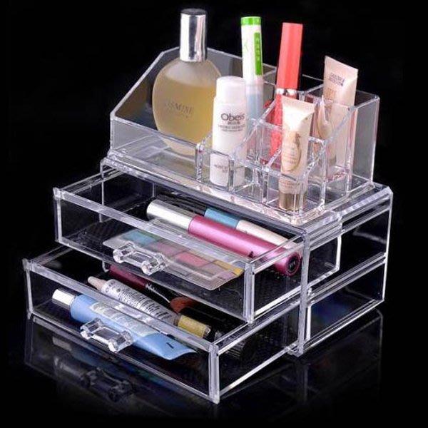 5Cgo【鴿樓】會員有優惠 9750229265 亞克力透明盒多層塑料盒 抽屜 化妝品盒大號 護膚品桌面收納盒 儲物盒