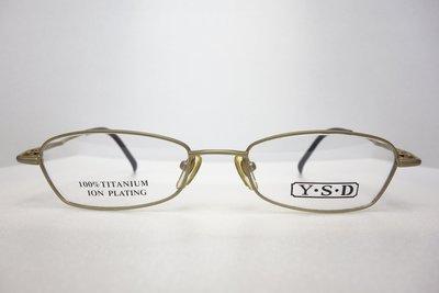 【台南中國眼鏡】Y.S.D. 1019 日本製 鏡框 鏡架 鈦 TITANIUM 全框 庫存
